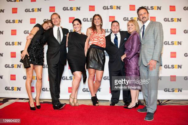 Dancing With the Stars castmates Elisabetta Canalis Carson Kressley Ricki Lake Hope Solo Chaz Bono Nancy Grace and David Arquette arrive at the GLSEN...