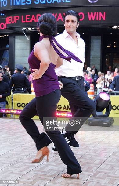 'Dancing With The Stars' contestants Cheryl Burke and Gilles Marini visit ABC's Good Morning America at ABC Studios on May 20 2009 in New York City