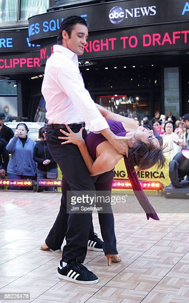 'Dancing With The Stars' contestants Gilles Marini and Cheryl Burke visit ABC's Good Morning America at ABC Studios on May 20 2009 in New York City