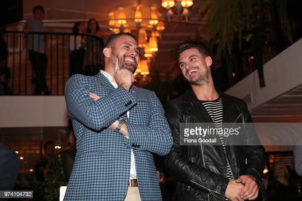 Dancing with the Stars judge Jules Tocker with his brother JP Tocker at the New Zealand launch of Thankyou at Everybody's on June 14 2018 in Auckland...