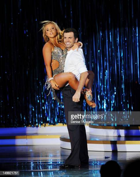 Dancing With The Stars Live In Las Vegas dancers Chelsea Hightower and Tony Dovolani during the season's final performance at The Tropicana on August...