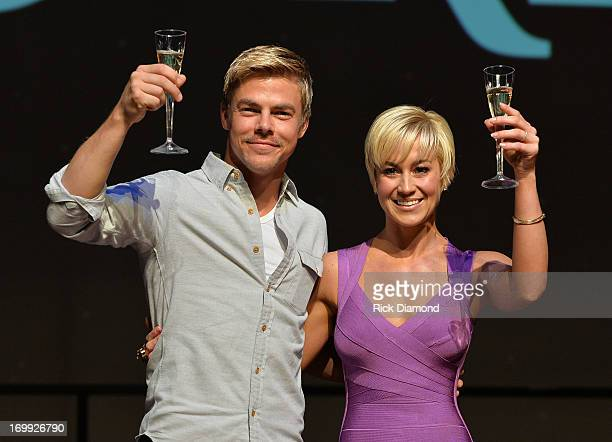 Dancing With The Stars Winner Kellie Pickler and Derek Hough attend The Grand Ole Opry on June 4 2013 in Nashville Tennessee