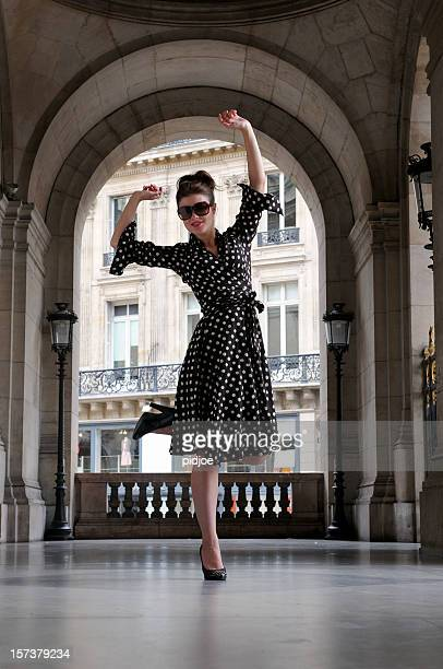 dancing young woman - tinted sunglasses stock pictures, royalty-free photos & images