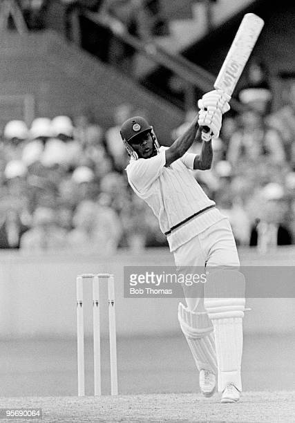 Dandeniyage De Silva batting for Sri Lanka against England during the Prudential World Cup match held in Taunton England on 11th June 1983 England...