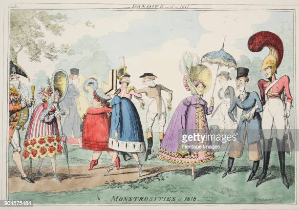 Dandies of 1817 and Monstrosities of 1818 pub 1835