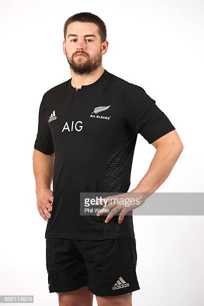 Dane Coles of the All Blacks poses for a portrait during a New Zealand All Black portrait session on May 29 2016 in Auckland New Zealand