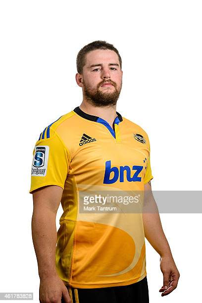 Dane Coles poses during a Wellington Hurricanes Super Rugby headshots session on January 7 2015 in Wellington New Zealand