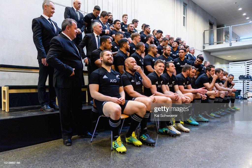 New Zealand All Blacks Squad Teamphoto Session