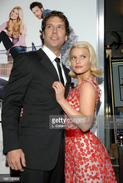 "Dane Cook and Jessica Simpson during ""Employee of the Month"" Premiere - Red Carpet at Mann's Chinese Theater in Hollywood, California, United States."