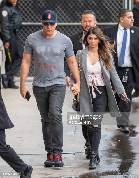 Dane Cook and Kelsi Taylor are seen at 'Jimmy Kimmel Live' on February 14 2019 in Los Angeles California