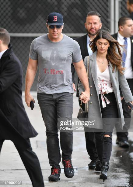 Dane Cook and Kelsi Taylor are seen on Valentines Day on February 14 2019 in Los Angeles California