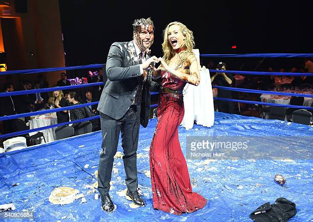 Dane Cook and Petra Nemcova at the Happy Hearts Fund Fight For Education Gala at Hammerstein Ballroom on June 16, 2016 in New York City.