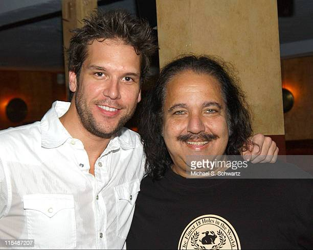Dane Cook and Ron Jeremy during Comedian Dane Cook Headlines Laugh Factory Performance for Producer/Comedian Jay Davis August 9 2005 at The Laugh...