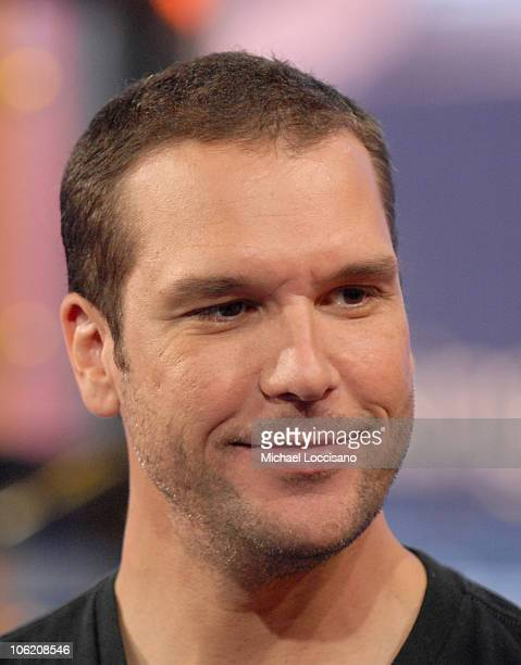 Dane Cook during Seth Rogen Dane Cook NeYo and Maroon 5 Visit MTV's TRL May 29 2007 at MTV Studios Times Square in New York City New York United...