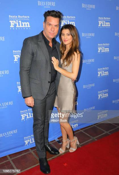 Dane Cook of 'American Typecast ' and Kelsi Taylor attend the Cinema Vanguard Award Presented by Belvedere Vodka Honoring Michael B Jordan during the...