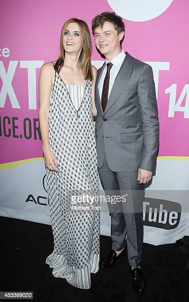 Dane DeHaan and Anna Wood arrive at the Los Angeles Premiere of 'Life After Beth' held during the 2014 Sundance NextFest at The Theatre at Ace Hotel...