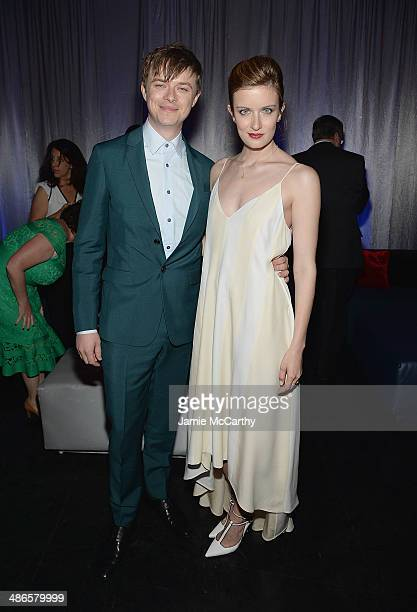 Dane Dehaan and Anna Wood attend the after party for 'The Amazing SpiderMan 2' premiere at Skylight at Moynihan Station on April 24 2014 in New York...