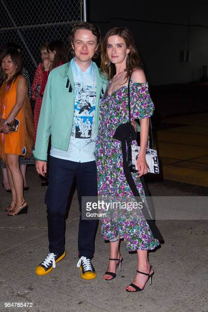 Dane DeHaan and Anna Wood attend the Prada Resort 2019 Fashion Show in Midtown on May 4 2018 in New York City