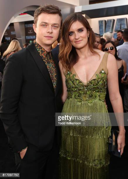 Dane DeHaan and Anna Wood attend the premiere of EuropaCorp And STX Entertainment's 'Valerian And The City Of A Thousand Planets' at TCL Chinese...