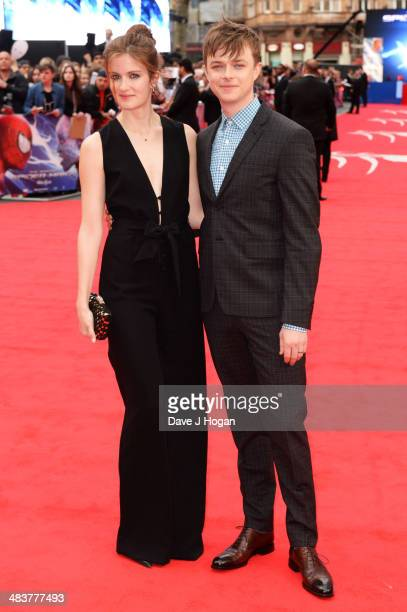 Dane DeHaan and Anna Wood attend the world premiere of 'The Amazing SpiderMan 2' at The Odeon Leicester Square on April 10 2014 in London England
