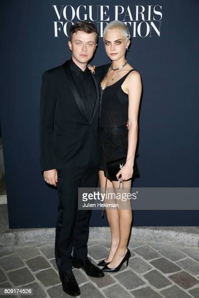 Dane DeHaan and Cara Delevingne attend the Vogue Foundation Dinner during Paris Fashion Week as part of Haute Couture Fall/Winter 2017-2018 at Musee...