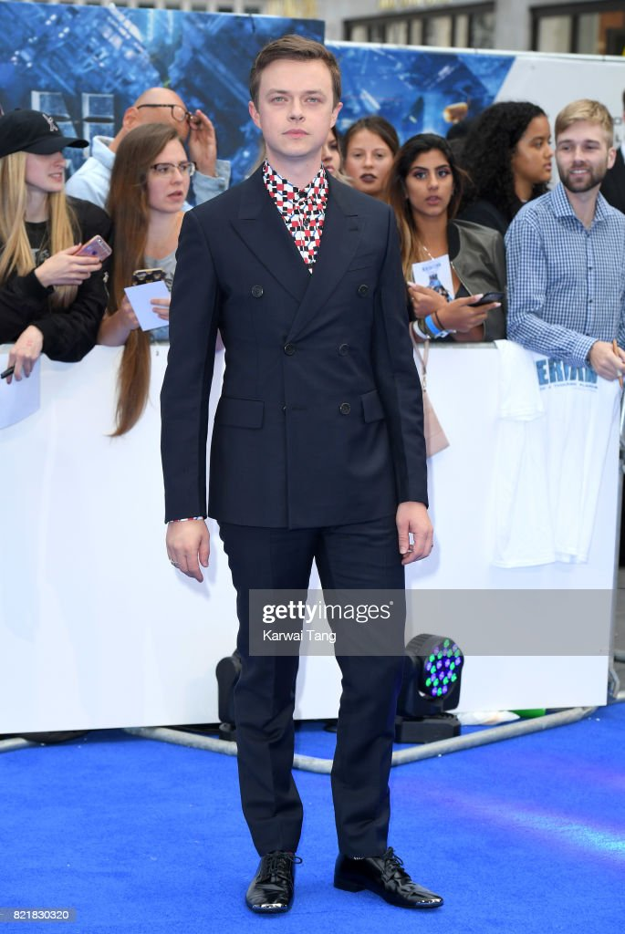Dane Dehaan attends the 'Valerian And The City Of A Thousand Planets' European Premiere at Cineworld Leicester Square on July 24, 2017 in London, England.