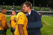 perth australia dane haylettpetty wallabies embraces