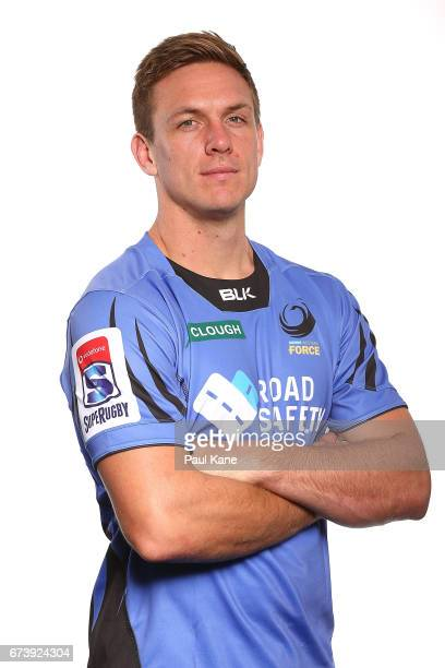 Dane HaylettPetty poses during a Western Force Super Rugby headshots session at the Rugby WA office on April 27 2017 in Perth Australia
