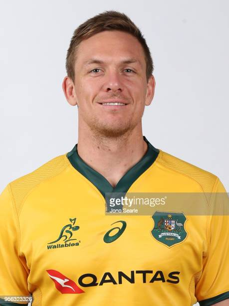Dane HaylettPetty poses during the Australian Wallabies headshot session on May 7 2018 in Gold Coast Australia