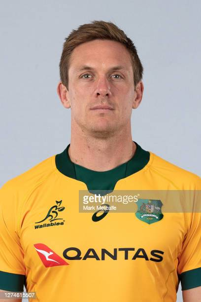 Dane HaylettPetty poses during the Australian Wallabies rugby team headshots session at the Crowne Plaza on September 21 2020 in the Hunter Valley...