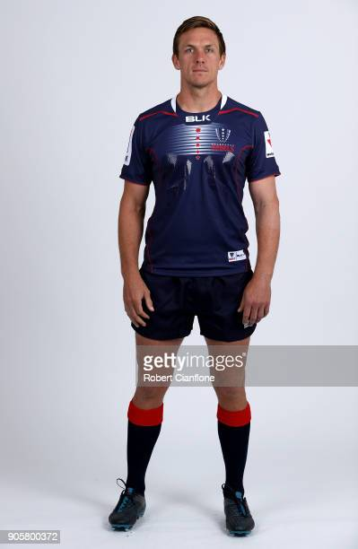Dane HaylettPetty poses during the Melbourne Rebels Super Rugby headshots session at AAMI Park on January 17 2018 in Melbourne Australia