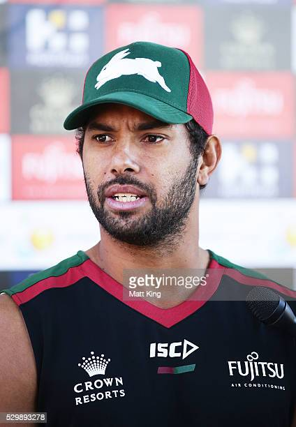 Dane Nielsen speaks to the media during a South Sydney Rabbitohs media session at Redfern Oval on May 10 2016 in Sydney Australia
