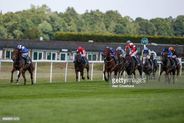 Dane O'Neill riding Battaash win The Randox Health Scurry Stakes at Sandown racecourse on June 17 2017 in Esher England