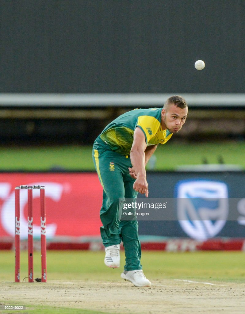 Dane Paterson of South Africa during the 2nd KFC T20 International match between South Africa and India at SuperSport Park on February 21, 2018 in Pretoria, South Africa.
