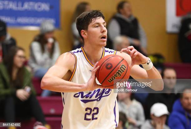 Dane Pineau of the Sydney Kings controls the ball during the 2017 NBL Blitz preseason match between the Sydney Kings and the Brisbane Bullets at...
