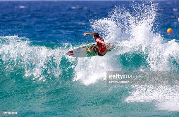 Dane Reynolds of the United States of America surfs to victory during round 2 of the Quiksilver Pro Gold Coast presented by LG Mobile on March 7,...