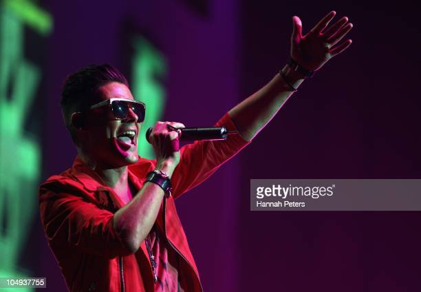 Dane Rumble performs during the 2010 Vodafone Music Awards at Vector Arena on October 7 2010 in Auckland New Zealand