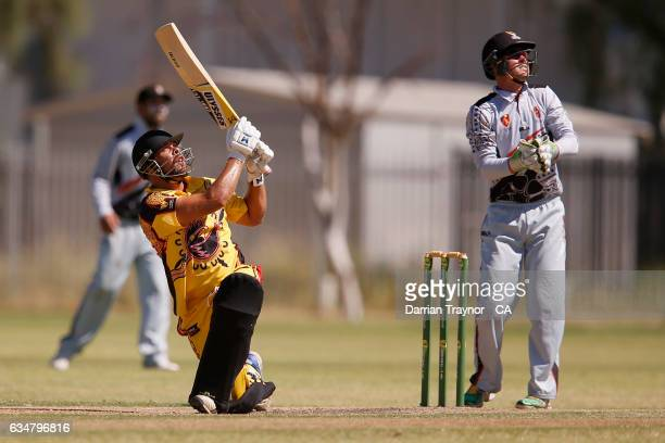 Dane Ugle of Western Australia bats during the National Indigenous Cricket Championships match between Western Australia and Northern Territory on...