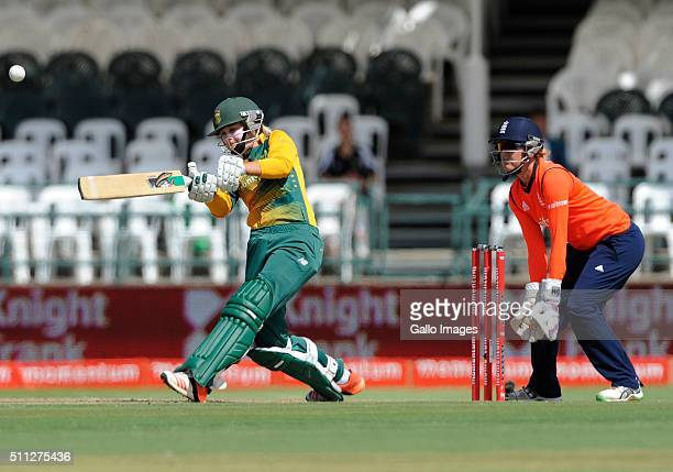 Dane van Niekerk of South Africa during the 2nd T20 International match between South African Women and England Women at PPC Newlands on February 19...
