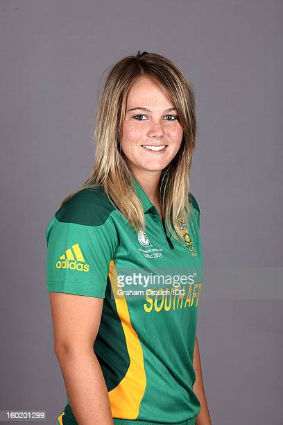 Dane Van Niekerk of South Africa poses at a portrait session ahead of the ICC Womens World Cup 2013 at the Taj Mahal Palace Hotel on January 27, 2013...