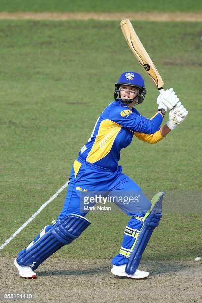 Dane Van Niekerk of the ACT bats during the WNCL match between ACT and Victoria at Manuka Oval on October 6 2017 in Canberra Australia