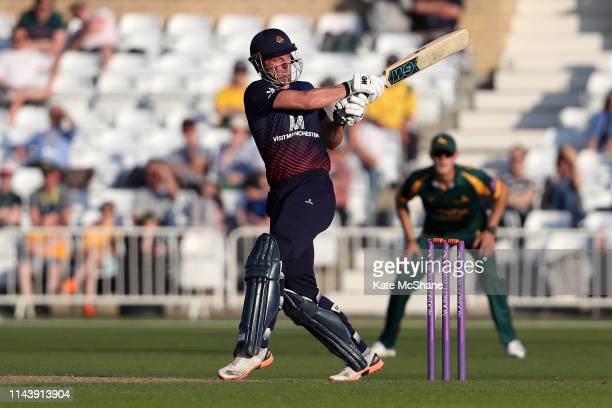 Dane Vilas of Lancashire bats during the Royal London One Day Cup match between Nottinghamshire and Lancashire at Trent Bridge on April 19 2019 in...
