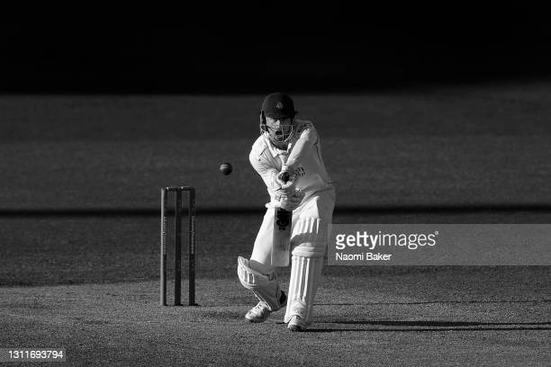 Dane Vilas of Lancashire bats the during the LV= Insurance County Championship match between Sussex and Lancashire at Emirates Old Trafford on April...