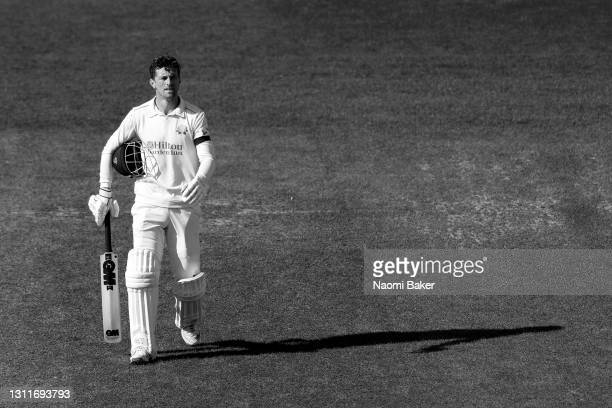 Dane Vilas of Lancashire looks on during the LV= Insurance County Championship match between Sussex and Lancashire at Emirates Old Trafford on April...