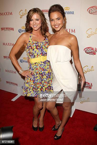 Daneel Harris and Arielle Kebbel arrive at Maxim's 10th Annual Hot 100 Celebration Presented by Dr Pepper Cherry True Religion Brand Jeans...