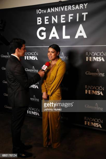 Daneida Polanco attends the Glasswing International 10th Anniversary Gala at Tribeca Rooftop on May 18 2017 in New York City