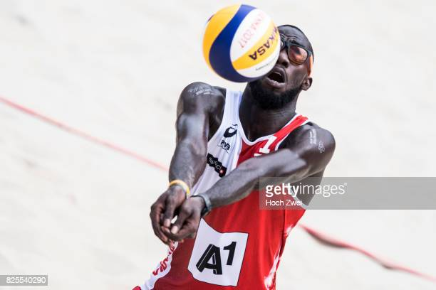 Daneil Williams of Trinidad/Tobago in action during Day 6 of the FIVB Beach Volleyball World Championships 2017 on August 2 2017 in Vienna Austria