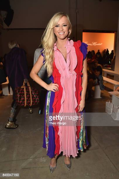 Daneille Moinet attends Leanne Marshall fashion show during New York Fashion Week The Shows at Gallery 2 Skylight Clarkson Sq on September 10 2017 in...