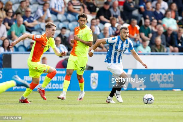 Danel Sinani of Huddersfield Town during the Sky Bet Championship match between Huddersfield Town and Nottingham Forest at Kirklees Stadium on...