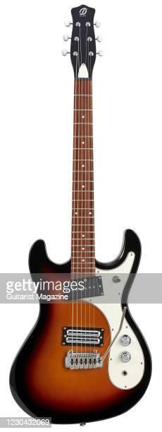 Danelectro 64XT electric guitar with a 3-Tone Sunburst finish, taken on December 11, 2019.